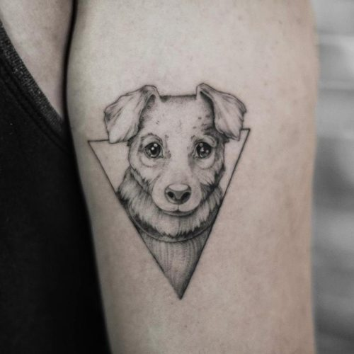 קעקוע של כלב